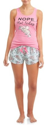 Sleep & Co Women's Tank Top & Short Set Pajama