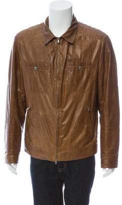 Brunello Cucinelli Worn Leather Vintage Jacket