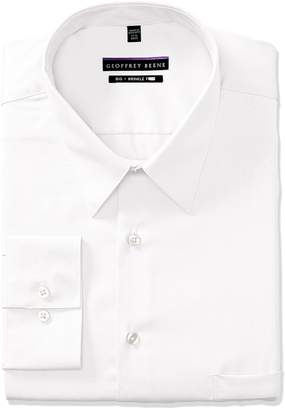 Geoffrey Beene Men's Sateen Big Fit Solid Point Collar Dress Shirt