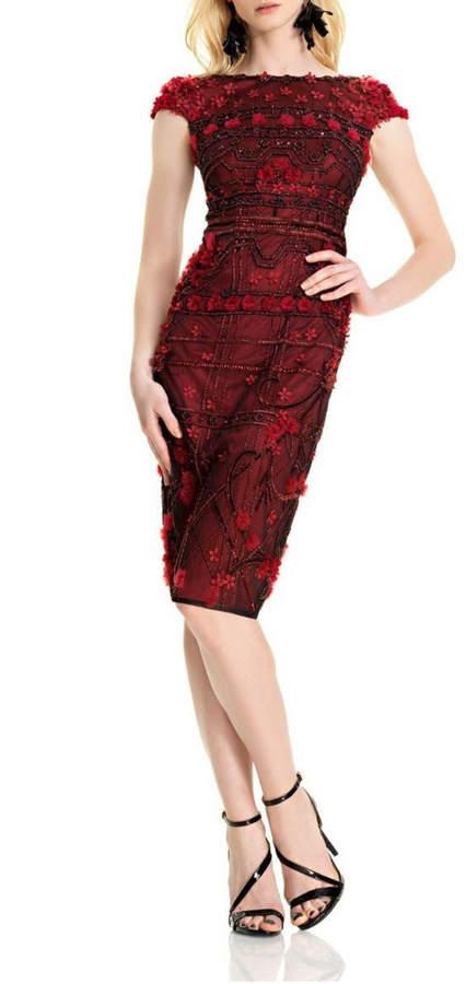Theia Floral Sheath Dress