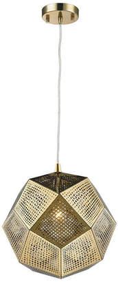 Geometrics 1-Light Champagne Gold Finish Stainless Steel Pendant Light