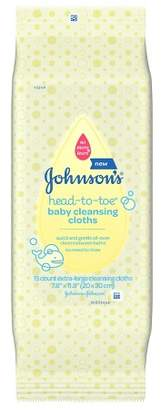 Johnson Johnson's Baby Head-to-Toe Cleansing Cloths - 15ct
