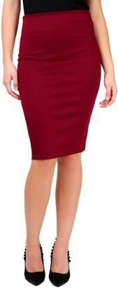 KRISP® Women Office Skirt Bengaline Belted Smart Pencil Midi