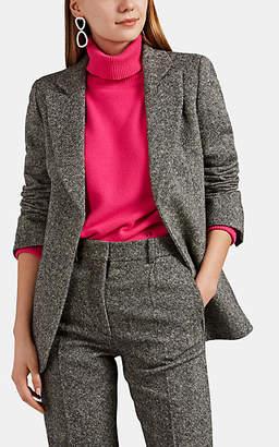 Victoria Beckham Women's Tweed Open-Front Blazer - Beige, Tan
