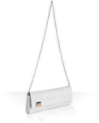 Dolce & Gabbana white patent 'Miss Martini' chain shoulder bag