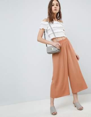 Asos Design DESIGN tailored easy elasticated waist soft culottes