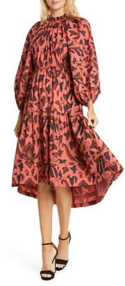 Ulla Johnson Ambre Long Sleeve Poplin Midi Dress
