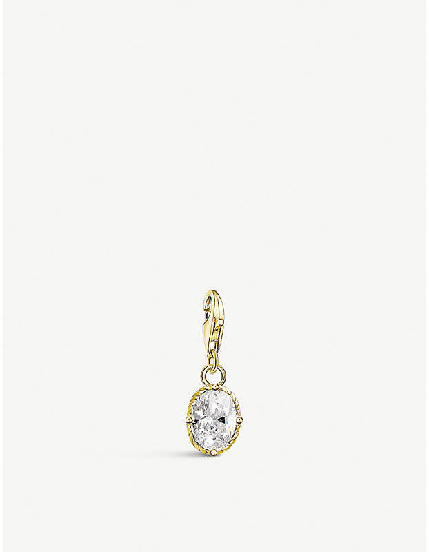 Vintage oval 18ct yellow gold-plated charm