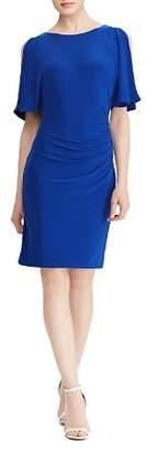 Ralph Lauren Cold-Shoulder Jersey Dress