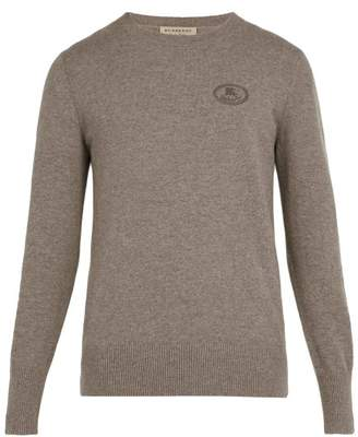 Burberry - Malcolm Logo Embroidered Cashmere Sweater - Mens - Camel