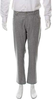 Brunello Cucinelli Flat Front Wool Pants