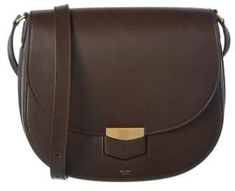 Celine Medium Trotteur Supersoft Calfskin Shoulder Bag.