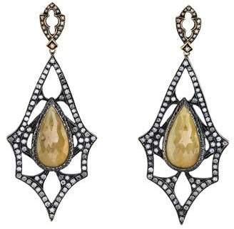 Loree Rodkin 18K Yellow Sapphire & Diamond Drop Earrings