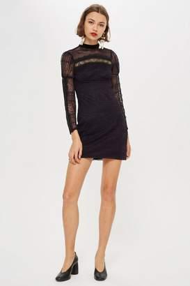 Topshop PETITE Lace Trim Dress