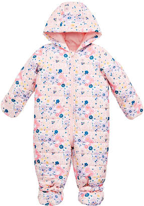 First Impressions Baby Girls Floral-Print Puffer Snowsuit