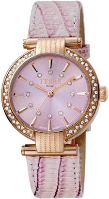 Ferré Milano Women's FM1L096L0031 Light Pink Dial with Light Pink leather Band Watch.