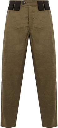 Ziggy Chen contrast belt loops cropped trousers