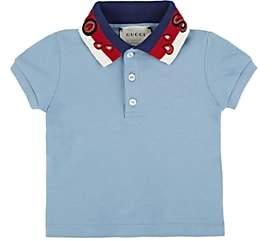 Gucci Infants' Spiritismo Cotton-Blend Piqué Polo Shirt - Blue