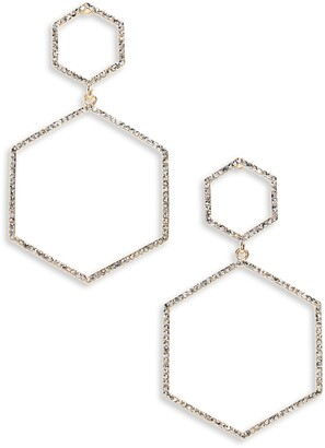 Panacea Crystal Hexagon Earrings