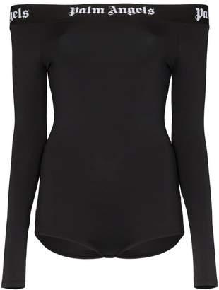 Palm Angels off-the-shoulder long sleeve bodysuit