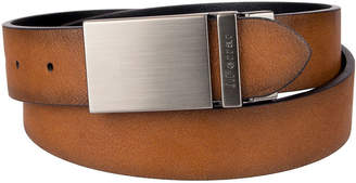 Jf J.Ferrar Reversible Men's Belt with Plaque Buckle
