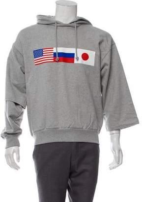 Gosha Rubchinskiy Double Sleeve Flag Hoodie w/ Tags