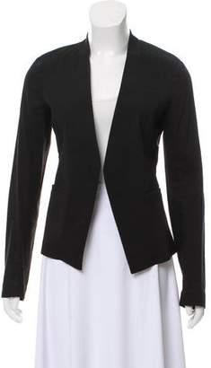 Theory Linen-Blend Open Front Blazer