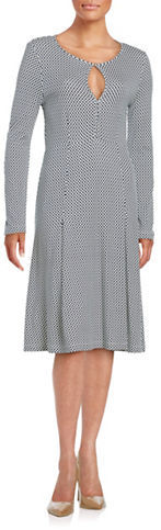 Max Mara Weekend Max Mara Dotted A-Line Dress