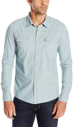 Paige Men's Hunter Button Down Denim Shirt