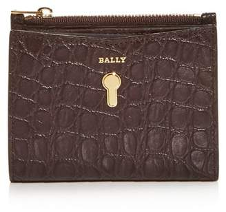 Bally Cogan Embossed Leather French Wallet