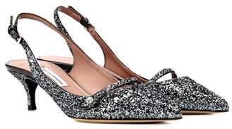 Tabitha Simmons Exclusive to mytheresa.com – Layton glitter slingback pumps
