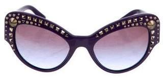 Versace Studded Cat-Eye Sunglasses