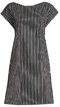 Piazza Sempione Women's Striped Cap-Sleeve Shift Dress