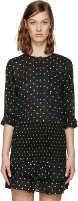 Isabel Marant Etoile Black Melany Blouse $170 thestylecure.com