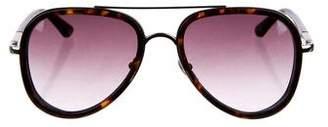 Etro Tortoise Aviator Sunglasses