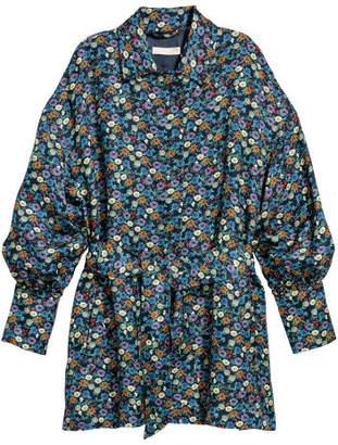 H&M Linen-blend Jacket - Blue