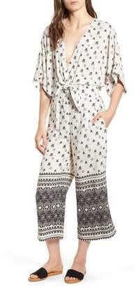 Splendid Desert Batik Print Tie Waist Jumpsuit