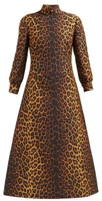 Gucci Leopard Print Wool Blend Dress - Womens - Leopard