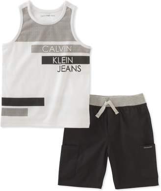 Calvin Klein Little Boys' 2 Pieces Tank Top Shorts Set