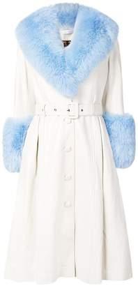 Saks Potts fur detail coat