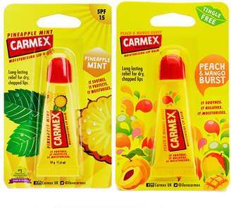Carmex Pineapple & Mint and Peach & Mango Duo