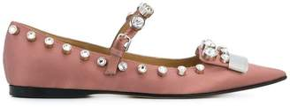Sergio Rossi embellished pointed ballerinas