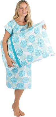 Baby Be Mine Gownies - Designer Hospital Gown Labor Kit (Small/Medium prepregnancy 0-10, Gownie with matching pillow case)