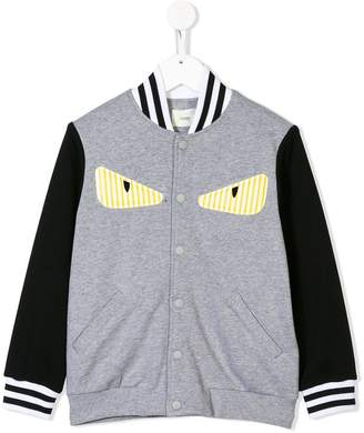 db85d4984c7ed Fendi Monster Eyes varsity jacket