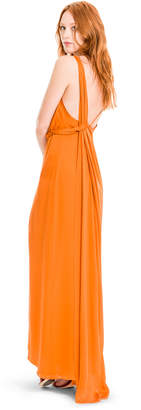 Max Studio silk charmeuse long dress