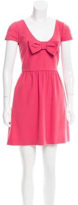 RED Valentino Bow-Accented Crepe Dress w/ Tags