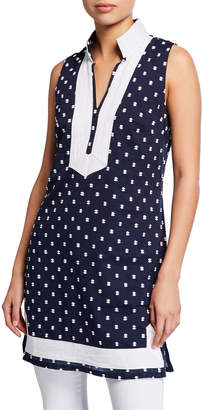 Sail To Sable Embroidered Sleeveless Long Tunic Top