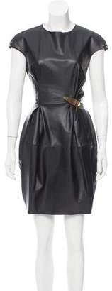 Lanvin Vegan Leather Mini Dress