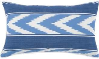 Jiti Ikat Stripe Outdoor Lumbar Pillow