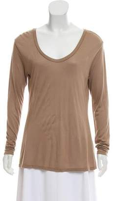 L'Agence Long Sleeve Scoop Neck T-Shirt w/ Tags